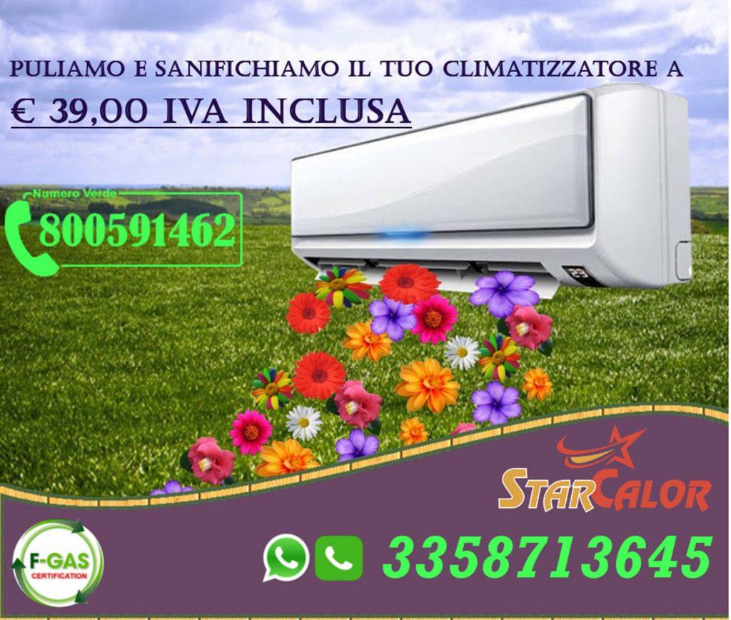 Promozione Star Calor su pulizia e sanificazione climatizzatori